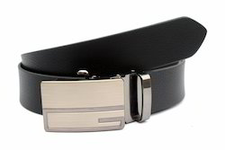 Men Formal Black Leather Belt