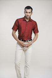 Maroon Silk Shirts