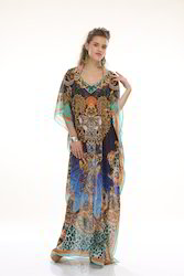 Silk Georgette Digital Printed Kaftan