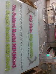 Glass Acrylic Nameplate