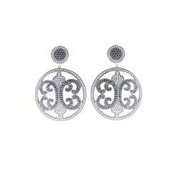 Black Spinel Diamond Earrings