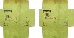 Old, Antique Vintage Theme Handmade Paper Envelopes
