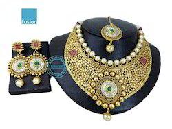 Traditional Antique Wedding Choker Necklace Set