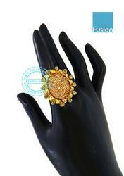 Polki Lct Stone Finger Ring