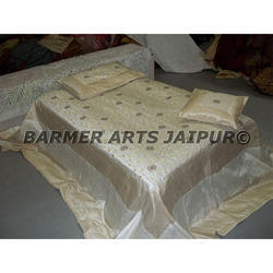 Designer Bed Sheets Silk Embroidery