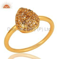 Yellow Gold Plated Diamond Ring