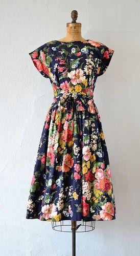 Rose Print Polyester Fabric