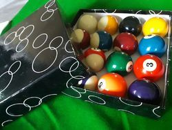 China Black Pool Ball Set 2/1-4