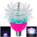 Disco Effect Color LED Light Rotating Lotus Bulb