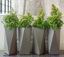 Tall Boy Diamond FRP Planter
