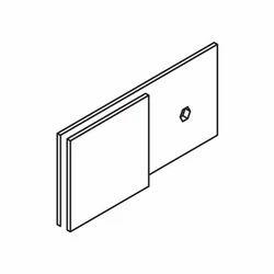 Glass to Wall Bracket - Inline Back Plate