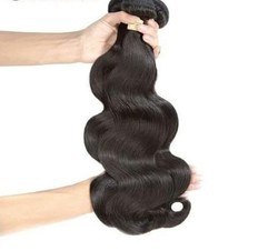 Natural Wave Machine Weft Hair