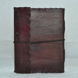Junkyard Leather Journal Diary With Handmade Paper- Blaze