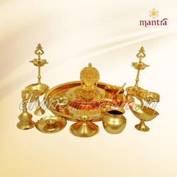Gold Plated Tamilnadu Pooja Set