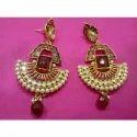 Red Stone Designer Earrings