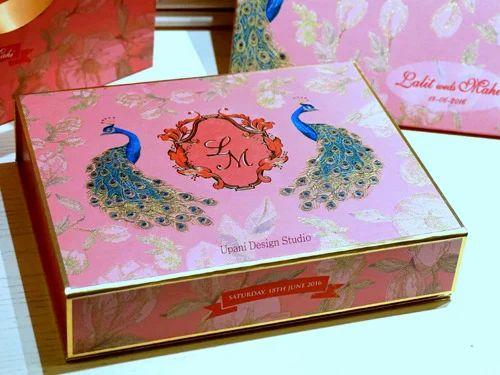 Floral Motif Invitation Box