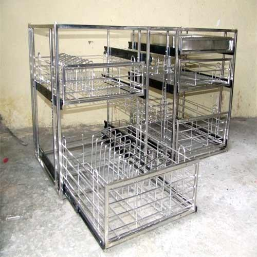 Modular Kitchen Trolleys Stainless Steel Kitchen Trolleys Manufacturer From Nashik