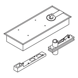 Floor Spring With 90 Hold Open With Accessories (en 3)