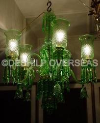 Green Cutting Chandelier