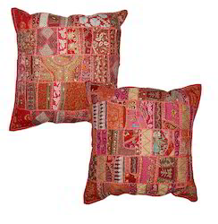 Indian Patch Work Cushion