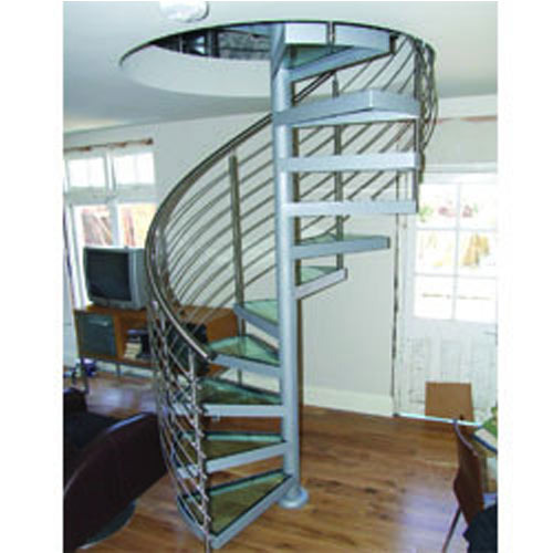 Spiral staircase wooden ms spiral manufacturer from chennai for Aluminum spiral staircase prices
