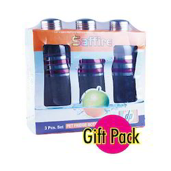Saffire 3pc Set Pet Bottles