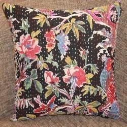 Kantha Floral Cushion