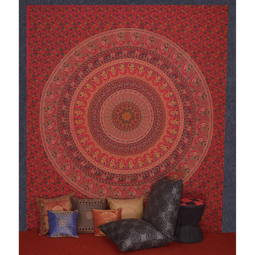 New Cotton Wall Hanging Tapestry, Hippie Bedspread Throw