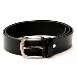 Mens Casual Black Leather Belt