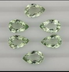 Green Amethyst Cut Stone