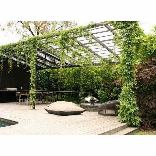 Pergola terrace gardern pergola terrace garden exporter for Terrace garden ideas and designs