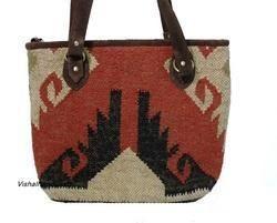 Wool Jute Shopper Bag