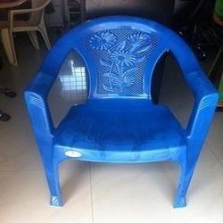 Dark Blue Plastic Chair