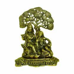 White Metal Radha Krishna Statues