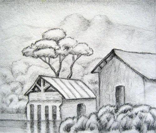 pencil sketch landscape sketch manufacturer from chandigarh