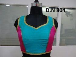 Blue Banarasi Silk Stitched Blouse