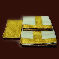 Warrior Dothis and Angavasthra Cotton and Art Silk Dhoti
