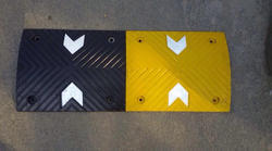 Speed Bump with Reflective Arrow