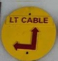 transpower round cable route marker