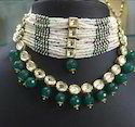 Aad Kundan Beaded Mala Necklace Set