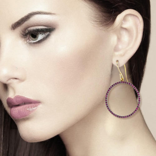 Ruby Gemstone Earring Jewelry