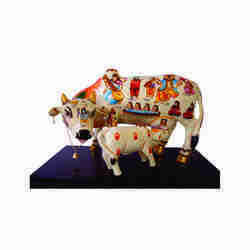 Kamdhenu Cow and Calf Statues
