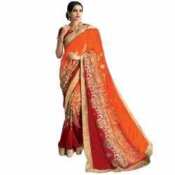Chanderi Saree with Work