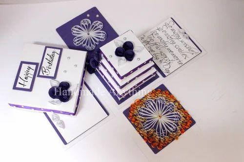 Handmade Birthday Box Card - Handmade Birthday Explosion Box Card Manufacturer from New Delhi