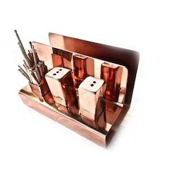 Copper Finished 3 x 1 Napkin Stand