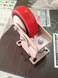 6x2 Spring Loaded Fixed Type Caster Wheels