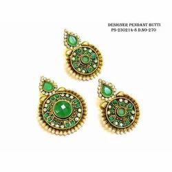 polki chand bali earring polki pendent set