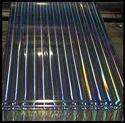 Polyester Metalised Holographic Pillar of Light Rainbow Film