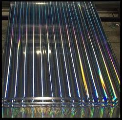 Polyester Metalised Holographic Pillar of Light Rainbow Film