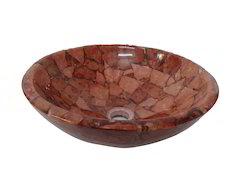 Prayosha Red Italian Washbasin